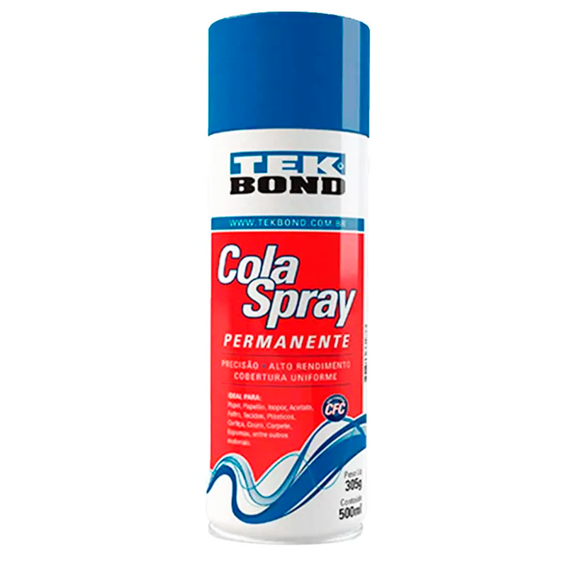 Cola Spray Permanente 305g - Tek Bond - AfricanArtesanato