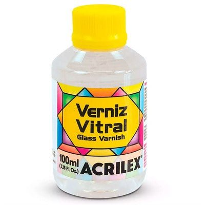 Verniz Vitral Incolor 100ml - Acrilex - AfricanArtesanato