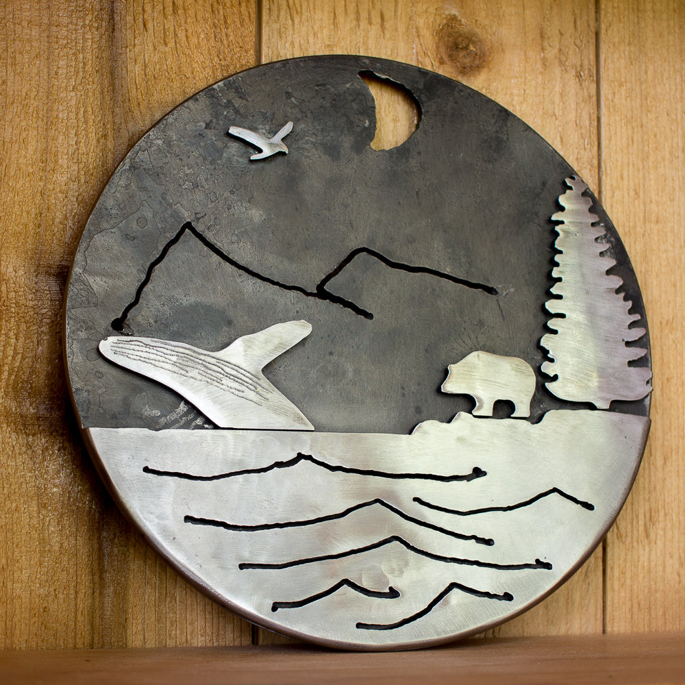 Wilderness Scene Art Plate