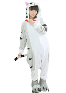 Pigiama animale kigurumi tuta intera GATTINO CHI costume carnevale Halloween cosplay, unisex adulto