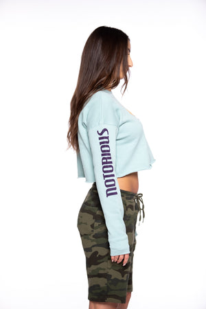 Notorious Aqua Crop Top Women's