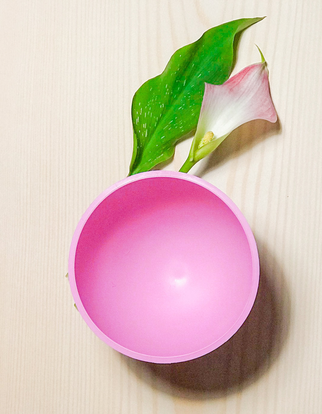 Pink Medical Grade Rubber Mixing Bowl