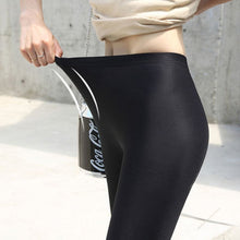 Load image into Gallery viewer, Women Solid Color Fluorescent Shiny High Waist Pant Leggings
