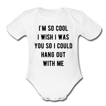 Load image into Gallery viewer, Organic Short Sleeve Baby Bodysuit - white