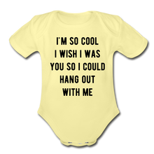 Load image into Gallery viewer, Organic Short Sleeve Baby Bodysuit - washed yellow