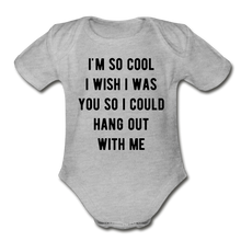 Load image into Gallery viewer, Organic Short Sleeve Baby Bodysuit - heather gray