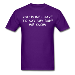 Adult T-Shirt - purple
