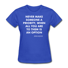 Load image into Gallery viewer, Ladies T-Shirt - royal blue