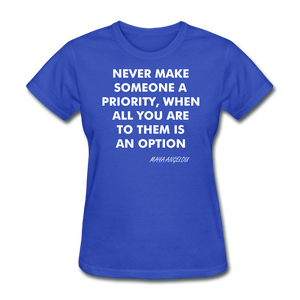 Ladies T-Shirt - royal blue
