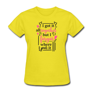 Ladies T-Shirt - yellow
