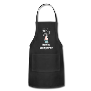 Adjustable Holiday Apron - black