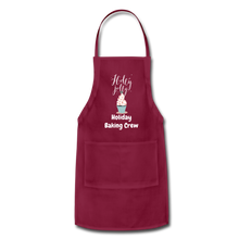 Load image into Gallery viewer, Adjustable Holiday Apron - burgundy