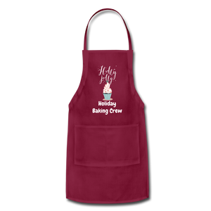 Adjustable Holiday Apron - burgundy