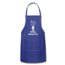 Load image into Gallery viewer, Adjustable Holiday Apron - royal blue