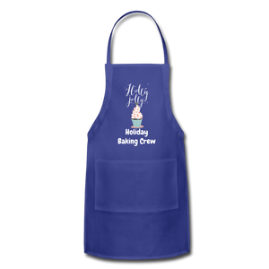 Adjustable Holiday Apron - royal blue
