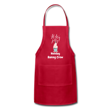 Load image into Gallery viewer, Adjustable Holiday Apron - red