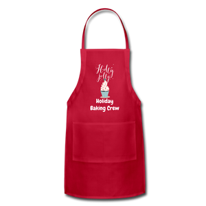 Adjustable Holiday Apron - red