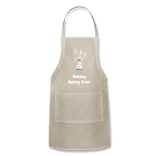 Load image into Gallery viewer, Adjustable Holiday Apron - natural