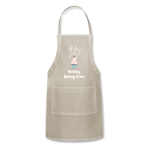 Adjustable Holiday Apron - natural