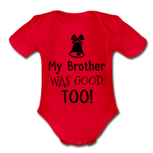 Load image into Gallery viewer, Organic Short Sleeve Baby Bodysuit - red