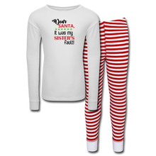 Load image into Gallery viewer, Christmas Kids' Pajama Set for Boys - white/red stripe