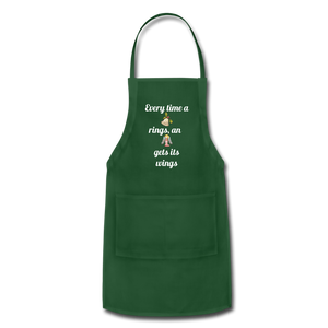 Adjustable Holiday Apron - forest green
