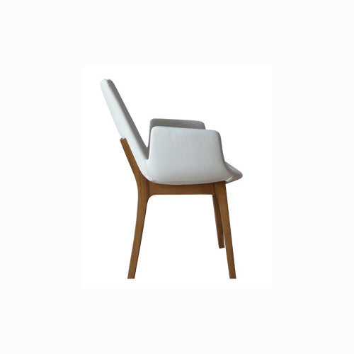 Eiffel Dining Arm Chair - Wood Base