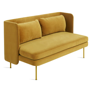 "Bloke 60"" Velvet Sofa with Arms"