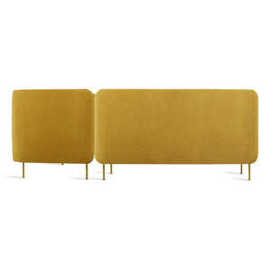 Bloke Armless Velvet Sofa with Right Arm Chaise