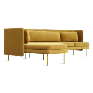 Bloke Velvet Sofa with Left Arm Chaise