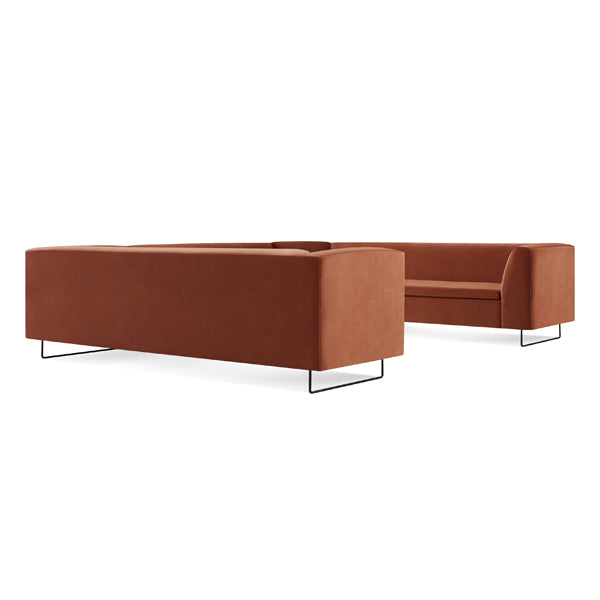 Bonnie and Clyde U-Shaped Velvet Sectional Sofa