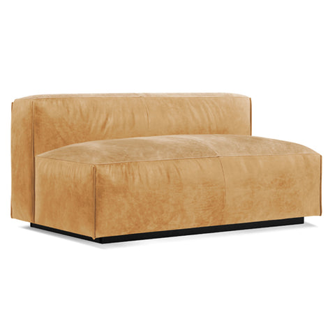 "Cleon 56"" Armless Leather Sofa"