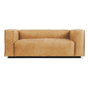 "Cleon 74"" Armed Leather Sofa"