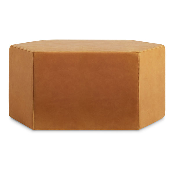 Hecks Large Leather Ottoman
