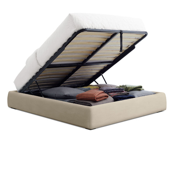 Lid Double Platform Storage Bed