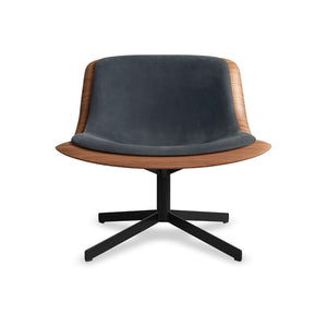 Nonesuch Swivel Leather Lounge Chair