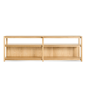 Open Plan Long and Low Bookcase