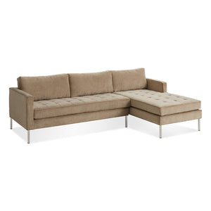 Paramount Velvet Sofa with Chaise
