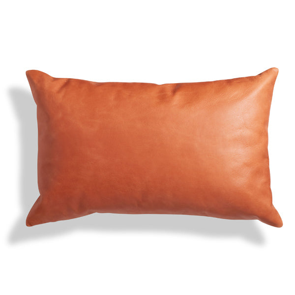 "Signal Leather 20"" x 13"" Lumbar Pillow"