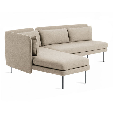 Bloke Armless Sofa with Left Arm Chaise - New Colour!