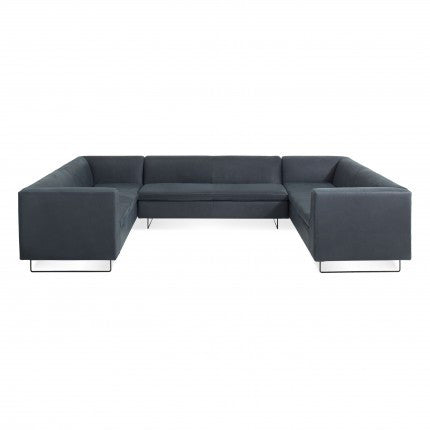 Bonnie and Clyde U-Shaped Leather Sectional Sofa
