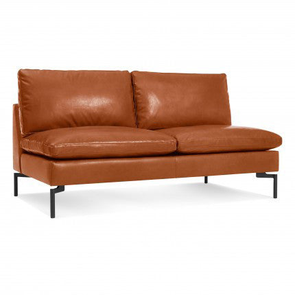 New Standard Leather Armless Sofa - New Colour!