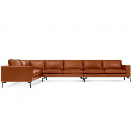 New Standard Leather Sectional Sofa - Large