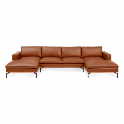 New Standard U Shaped Leather Sectional Sofa - New Colour!