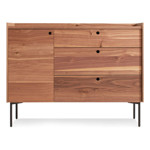 Peek 1 Door 3 Drawer Credenza