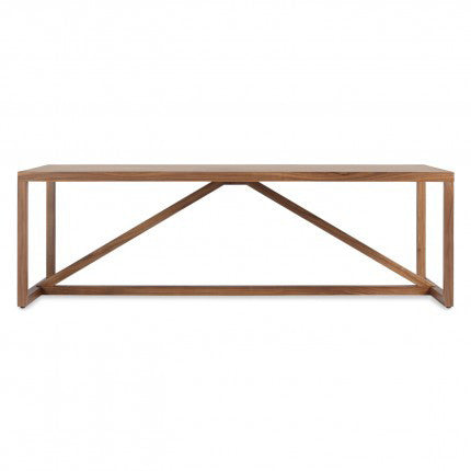 Strut Square Coffee Table - Wood
