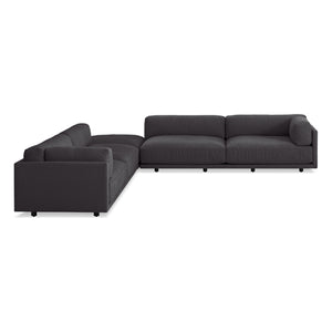 Sunday Backless L Sectional Sofa