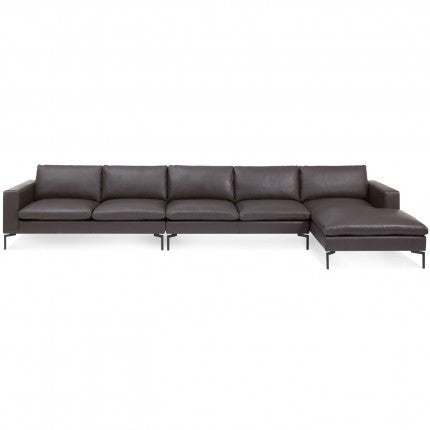 New Standard Leather Sectional Sofa - Medium - New Colour!