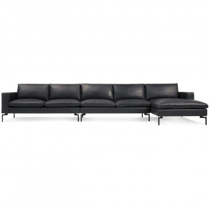 New Standard Leather Sectional Sofa - Medium