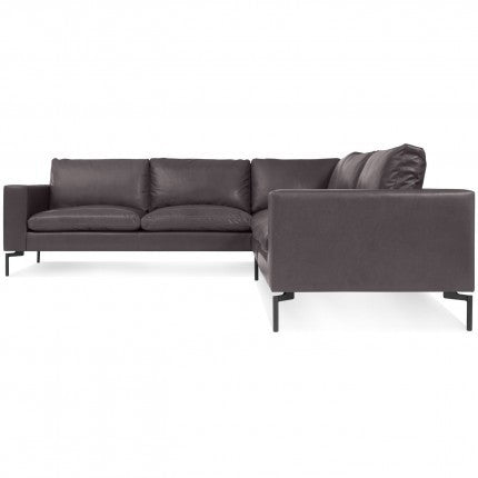 New Standard Leather Sectional Sofa - Small - New Colour!
